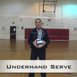 coaching underhand serve
