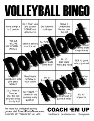 Coach em up volleyball bingo instant download solutioingenieria Image collections